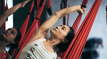 Fitness First Philippines aerial flow yoga workout class