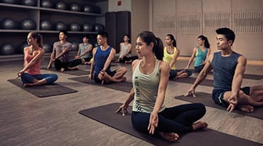 Fitness First Philippines gentle flow yoga workout class