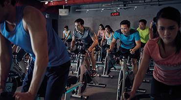 Fitness First Philippines pro cycling class